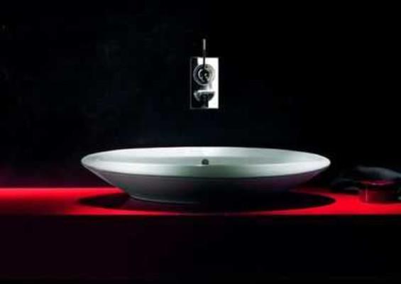 czarna umywalka łazienkowa Duravit
